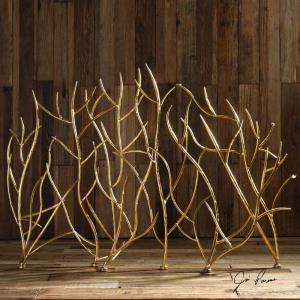 Gold Branches - 47 inch Decorative Fireplace Screen