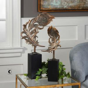 """Quill Feathers - 24.63"""" Sculpture (Set of 2)"""