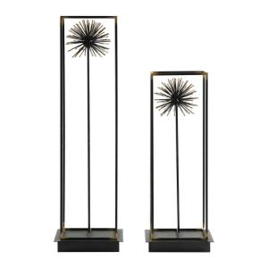 Flowering Dandelions - 21 inch Sculpture (Set of 2) - 6 inches wide by 5 inches deep