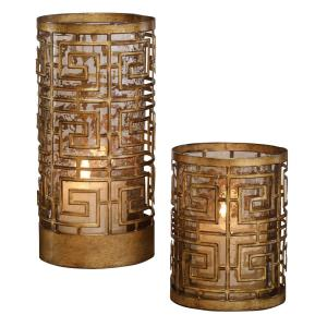 Ruhi - 10.5 inch Candleholder (Set of 2) - 5 inches wide by 5 inches deep