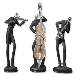 Musicians - 17.75 inch Figurine (Set of 3) - 5 inches wide by 4.38 inches deep