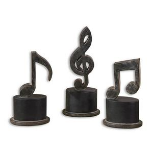 "Music Notes - 11.75"" Metal Figurine (Set of 3)"