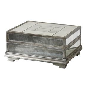 "Trory - 14.75"" Mirrored Decorative Box"