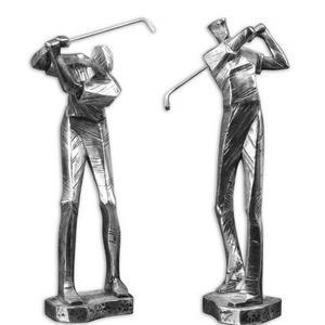 """Practice Shot - 16"""" Metallic Statues (Set of 2)"""
