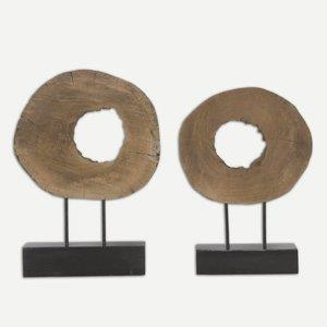 "Ashlea - 20.5"" Wooden Sculptures (Set of 2)"