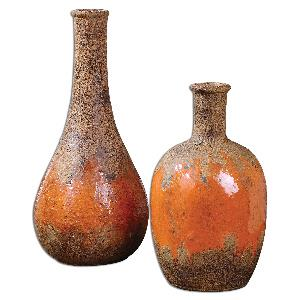 Kadam - 12 inch Vase (Set of 2) - 5.5 inches wide by 5.5 inches deep