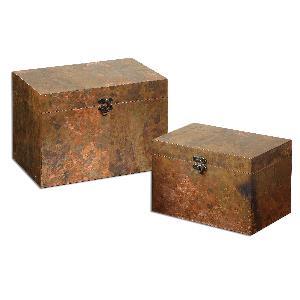 """Ambrosia - 13.5"""" Copper Boxe (Set of 2)"""