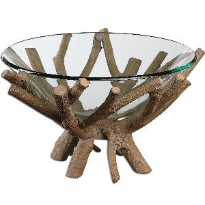 "Thoro - 19.63"" Wood Bowl"