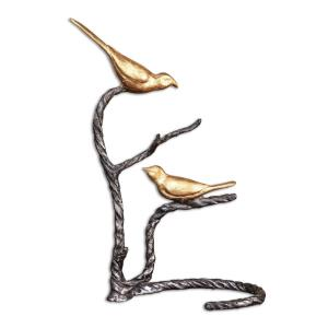 "Birds On A Limb - 18.25"" Sculpture"