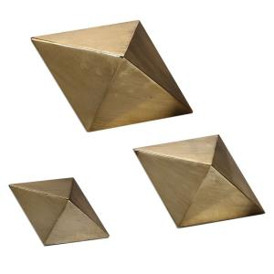 Rhombus - 8.25 inch Table Top Accessory (Set of 3)