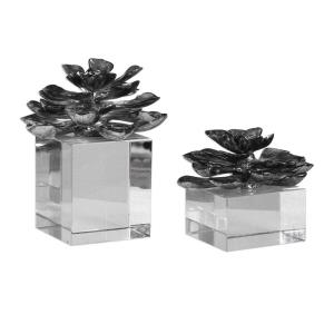 Indian Lotus - 7 inch Flower (Set of 2)