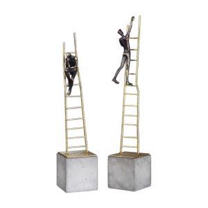 """Ladder Climb - 18.25"""" Sculpture (Set of 2)"""