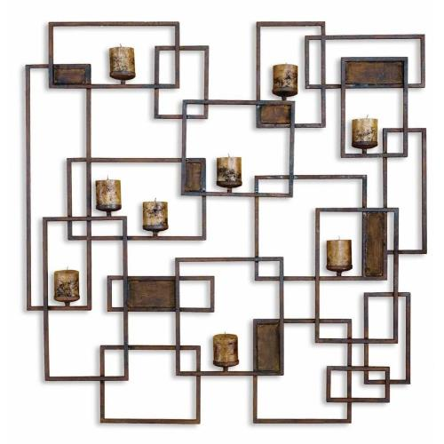 Uttermost 20850 Siam - 48 inch Metal Candlelight Wall Sculpture