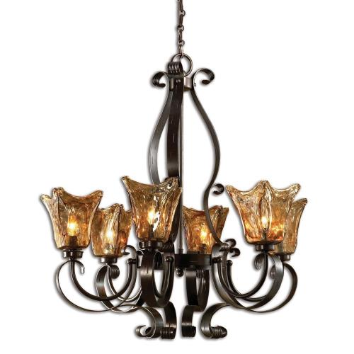 Uttermost 21006 Vetraio - Six Light Chandelier