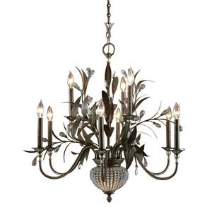 Cristal De Lisbon Chandelier 11 Light Iron/Poly/Glass