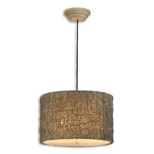 Knotted Rattan Drum Pendant 3 Light