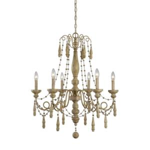 Marinot Chandelier 6 Light Wood/Metal
