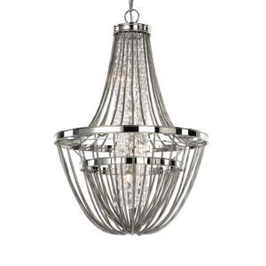 Couler Chandelier 4 Light Steel/Glass