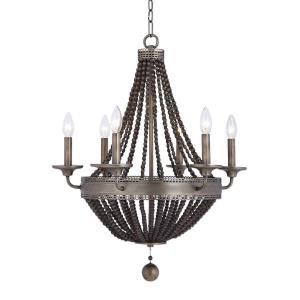 Thursby - Six Light Beaded Chandelier