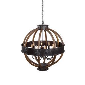 Bowdon - Eight Light Orb Pendant