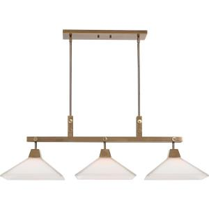 Brookdale - 3 Light Linear Chandelier - 43.88 inches wide by 13 inches deep