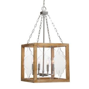Perspex Pendant 4 Light  - 16 inches wide by 16 inches deep