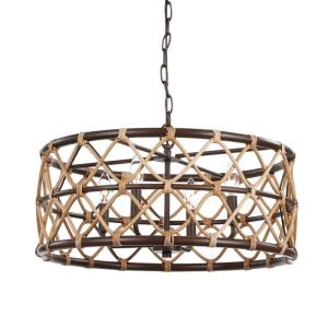 Hilo Drum Pendant 4 Light