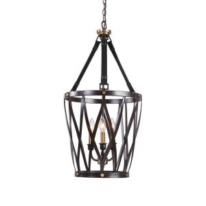 Marlandin Pendant 3 Light Woven Metal Strap