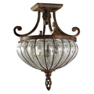 Galeana - 2 Light Semi-Flush Mount - 15 inches wide by  inches deep