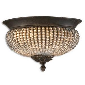 Cristal De Lisbon - 2 Light Crystal Flush Mount