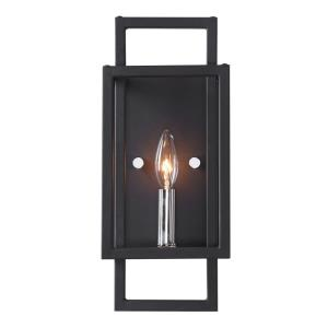 Quadrangle - 1 Light Wall Sconce - 6 inches wide by 4 inches deep