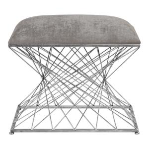 Zelia - 23.63 inch Accent Stool - 23.63 inches wide by 15.75 inches deep