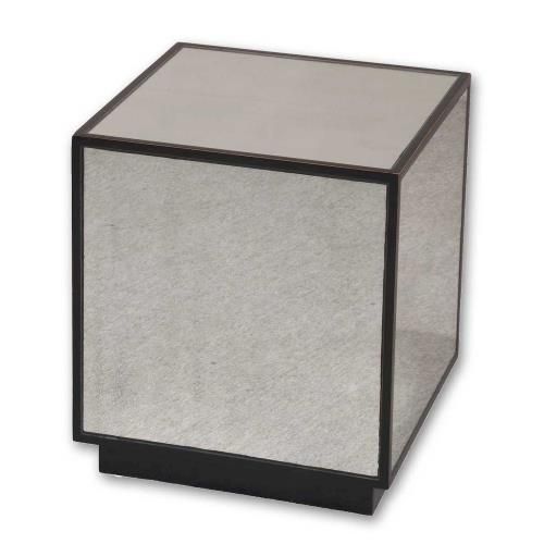 Uttermost 24091 Matty - 18 inch Mirrored Cube Table