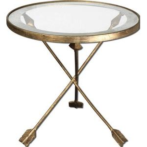 Aero - 20 inch Glass Top Accent Table
