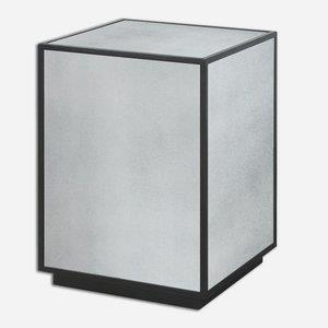 Matty - 25 inch Mirrored Side Table