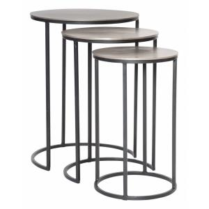 Erik - 23.7 inch Metal Nesting Tables (Set of 3)