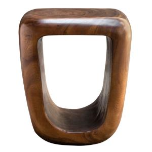 Loophole - 18 Inch Wooden Accent Stool - 16 inches wide by 14 inches deep