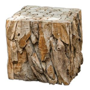 Teak Root - 18.5 inch Bunching Cube Table