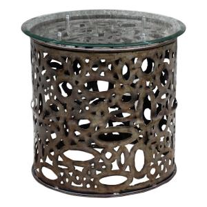 Zama - 25 inch Industrial Accent Table
