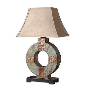 Slate - One Light Outdoor Table Lamp