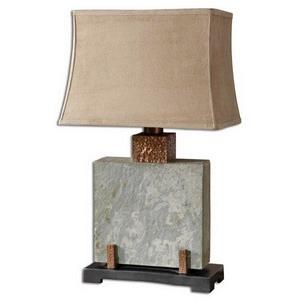 Slate Square - Table Lamp