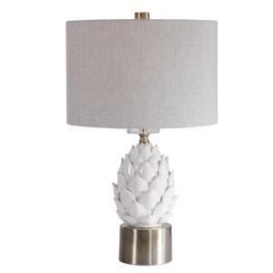 White - 1 Light Table Lamp - 15 inches wide by 15 inches deep