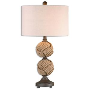Higgins - 1 Light Rope Spheres Table Lamp