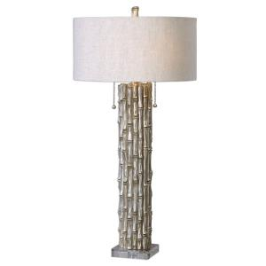 Silver Bamboo - Two Light Table Lamp
