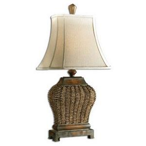 Augustine - One Light Woodtone Table Lamp