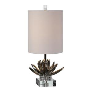 Silver Lotus - 1 Light Accent Lamp