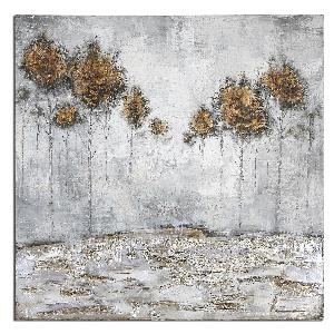 "Iced Trees - 48"" Abstract Wall Art"