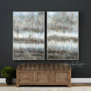 "Gray Reflections - 52.75"" Landscape Art (Set of 2)"