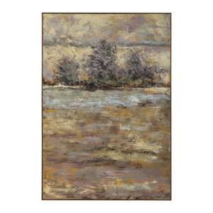 "Lavender Trees - 60.75"" Landscape Wall Art"