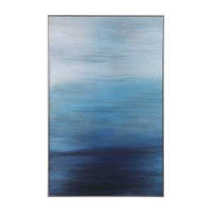 Moonlit Sea - 62 inch Hand Painted Canvas Art